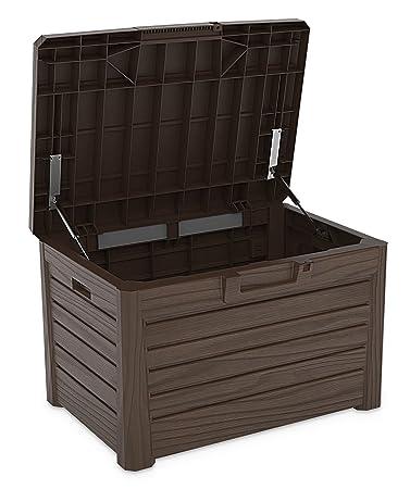 Erstaunlich Toomax Kissenbox #Z158 braun 120 Liter Inhalt Holz Optik - mit  PV84