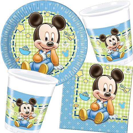 PCS/CARPETA 37 Juego de Set de Fiesta * Baby Mickey Mouse ...