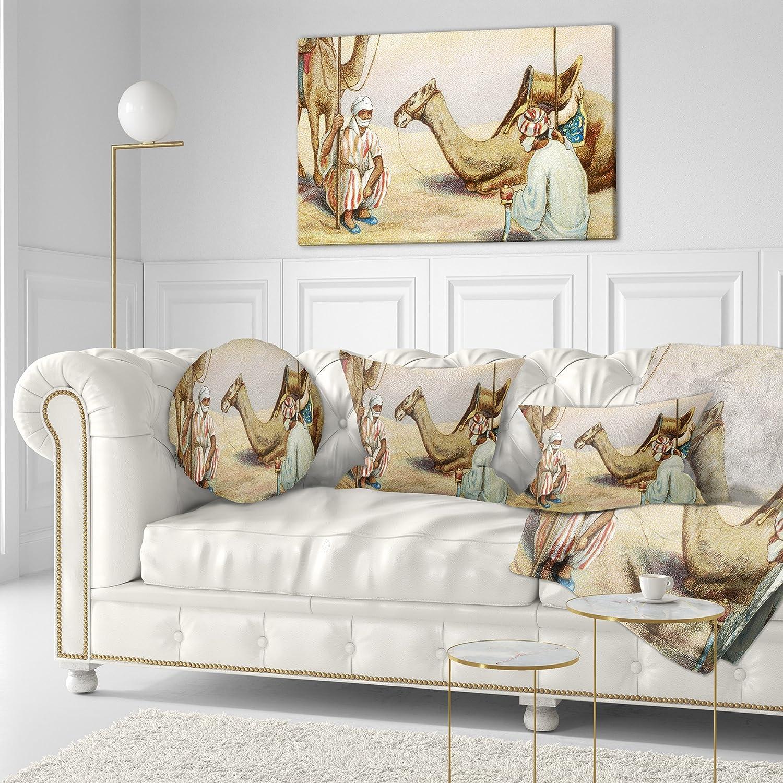 KESS InHouse Anya Volk Dancing Wolves Orange Abstract Wall Tapestry 68 x 80