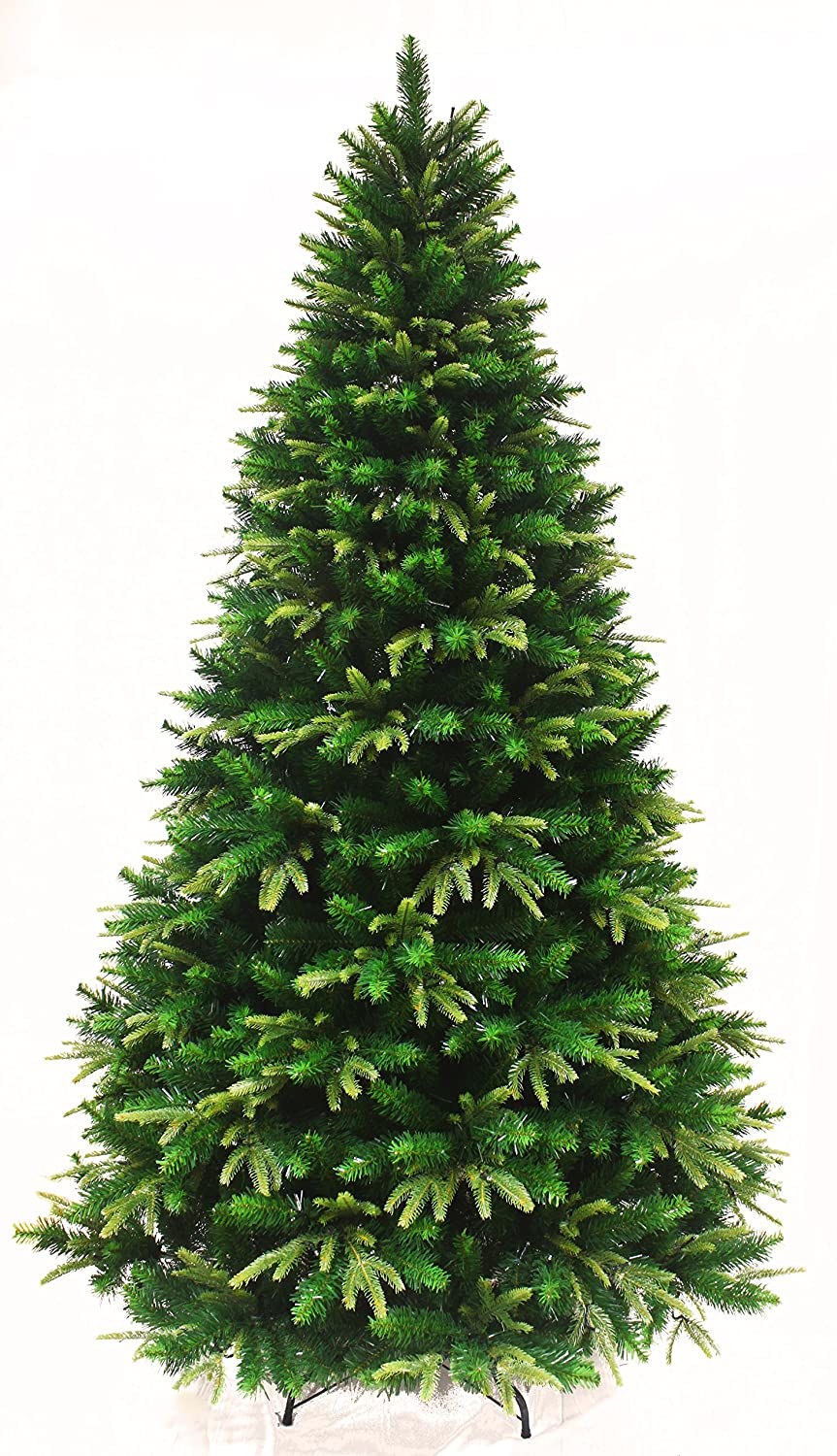 Spring Spirits Fir Christmas Tree with Real-Feel PE Tips and Metal Stand (6ft) Holiday Stuff SP745-180
