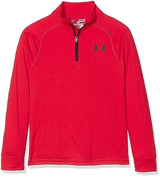 ed756305 Under Armour Boys' Tech Block 1/4 Zip Long-Sleeve Shirt, Red, Youth ...