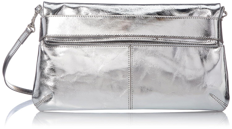[パトリック ステファン] ショルダーバッグ ポシェット Leather poche 'enveloppe' metallique ショルダーバッグ 174ABG09 B0792NFGTFシルバー
