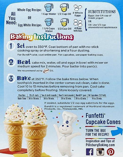 Amazon Pillsbury Moist Premium Cake Mix And Funfetti Vanilla