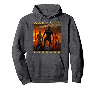 7dcdfc0ab Amazon.com: Marvel Black Panther Movie Wakanda Forever Graphic Hoodie:  Clothing