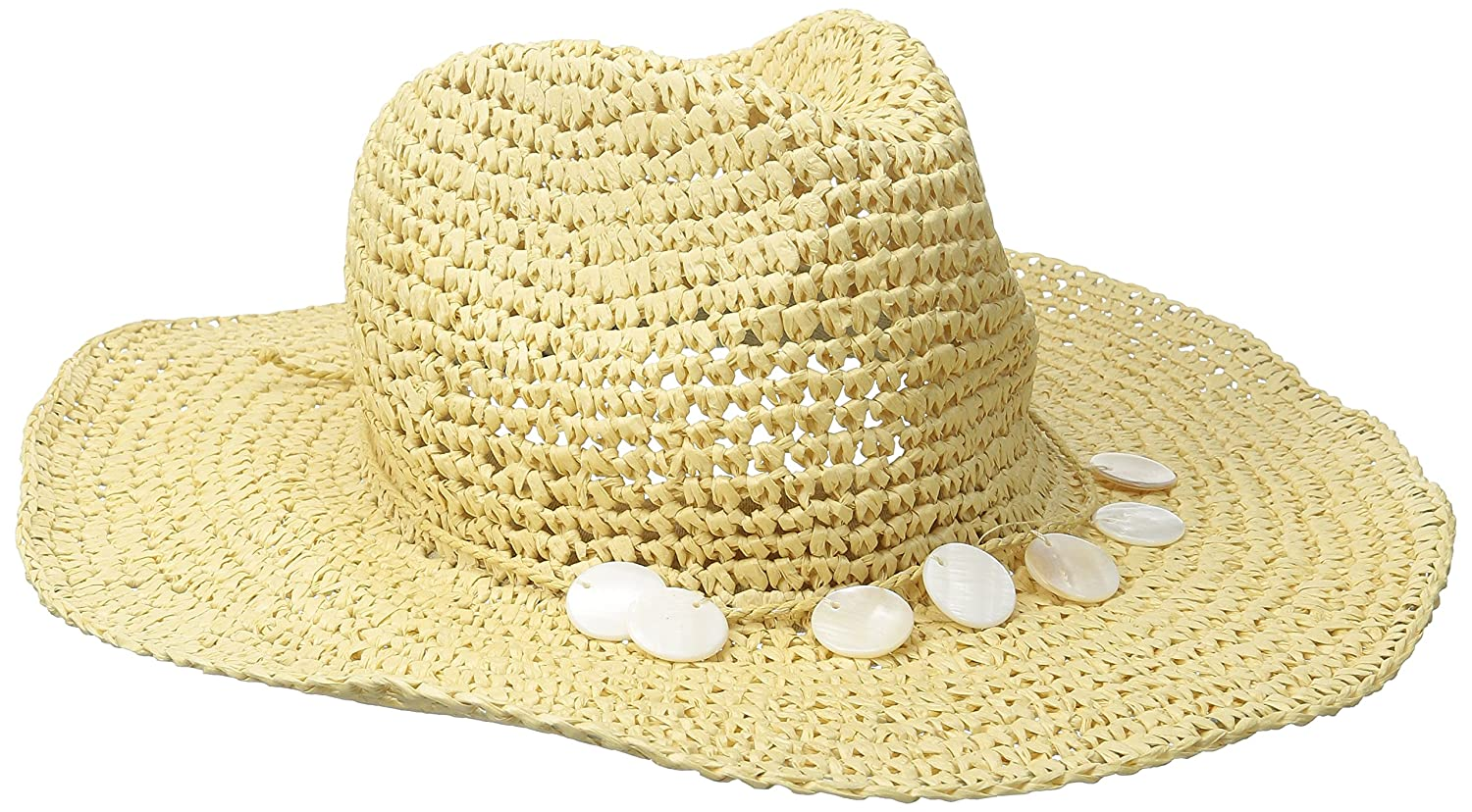 San Diego Hat Company Womens Crochet Paper Cowboy Hat With Wired