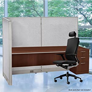 "GOF Freestanding L Shaped Office Partition, Large Fabric Room Divider Panel, 36""D x 72""W x 60""H"