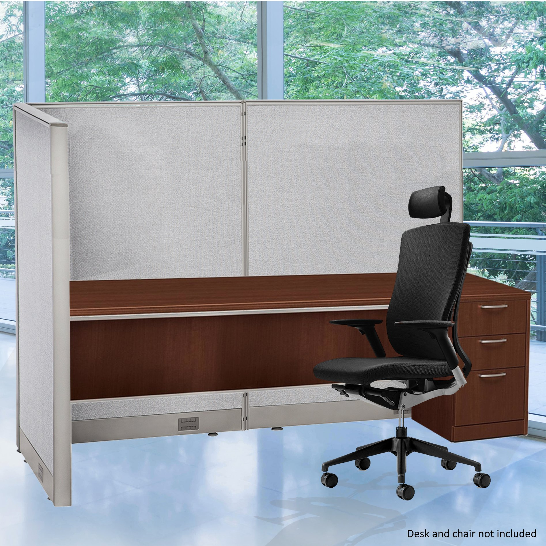 GOF 36D x 72W x 60H L-Shaped Freestanding Partition 36D x 72W x 60H / Office, Room Divider 3' x 6' (36D x 72W x 60H)
