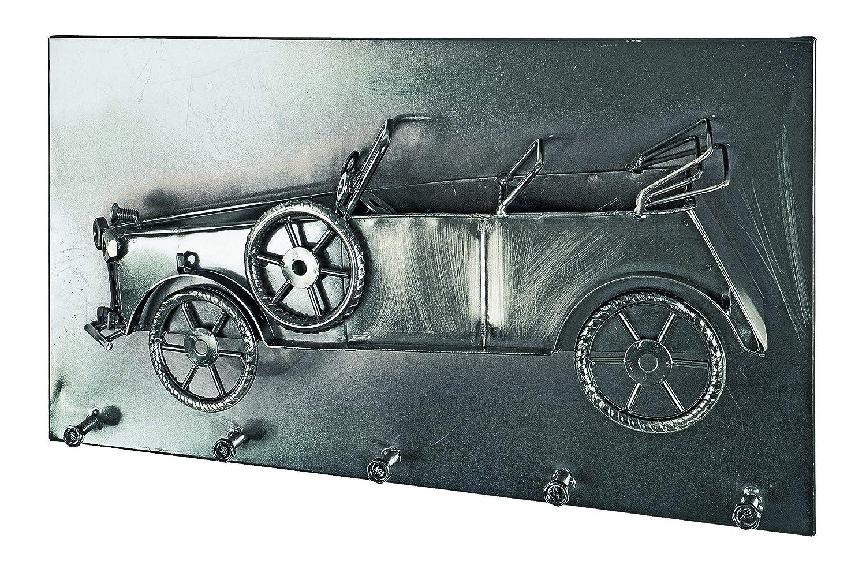 Haku-Möbel Wandgarderobe, 8 x 35 x H  20 20 20 cm, schwarz Nickel 8009a5