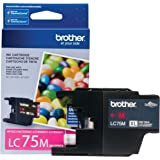 Brother Printer LC75M High Yield (XL Series) Magenta Cartridge Ink - Retail Packaging