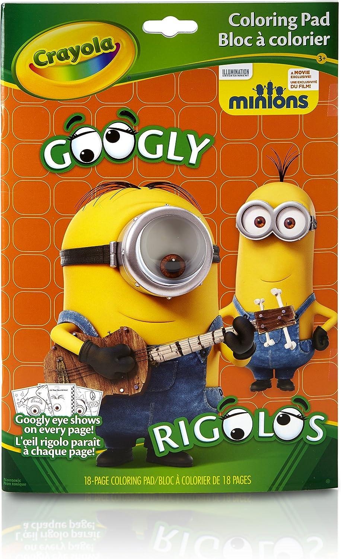 Amazon Com Crayola Googly Eye Minions Coloring Book Toys Games