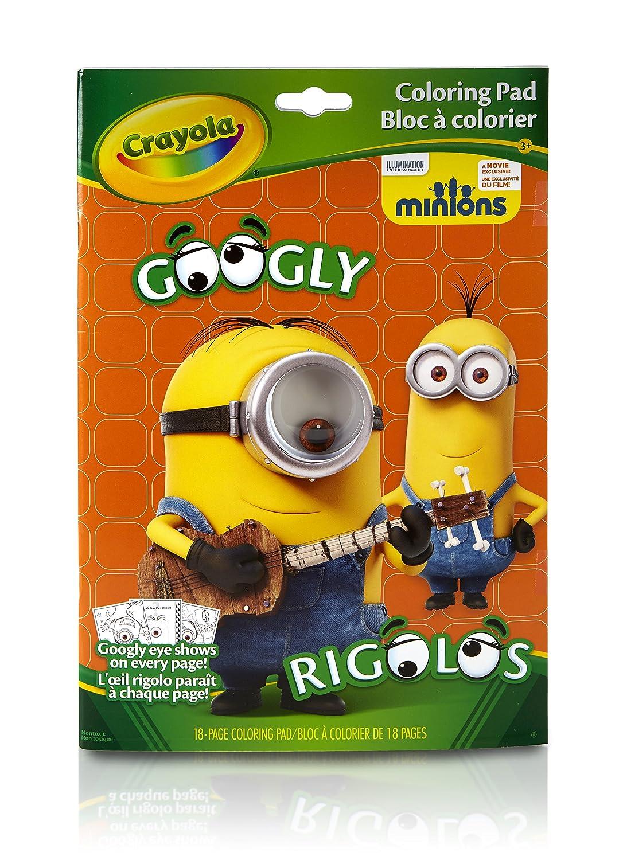 amazoncom crayola googly eye minions coloring book toys games