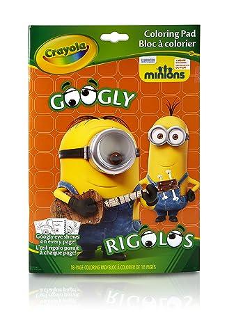 Coloring Book Minions : Amazon.com: crayola googly eye minions coloring book: toys & games