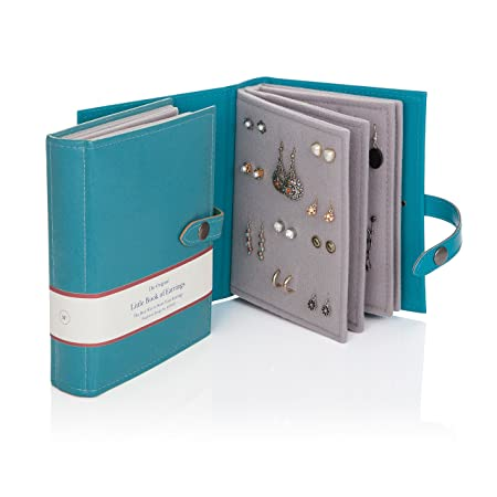 Superieur Little Book Of Earrings   Teal   Earring Storage Solution