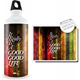 Hot Muggs It Is a Good Life Stainless Steel Bottle, 750ml, Multicolour