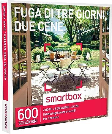 Smartbox Fuga Di Tre Giorni Due Cene 600 Soggiorni In Agriturismi E Hotel 3 Cofanetto Regalo Gastronomici Amazon It Sport E Tempo Libero