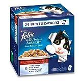 Felix So gut wie es aussieht Katzenfutter Fleisch Mix4er Pack, (4 x 24 x 100 g) Beutel