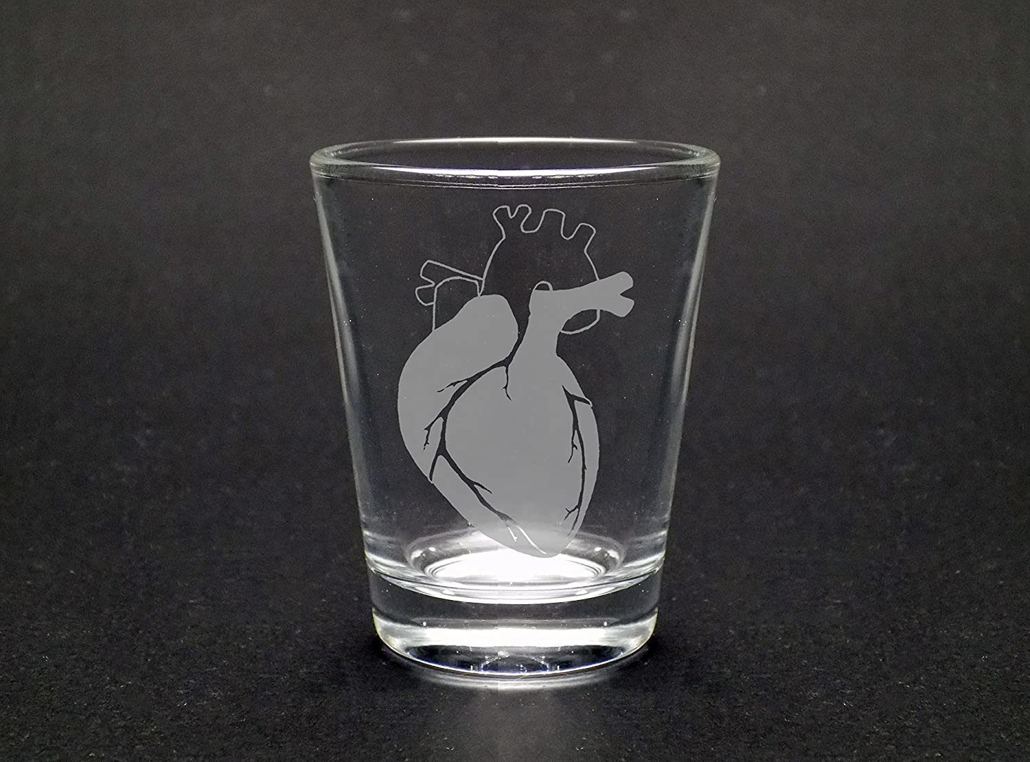 Anatomically Correct Heart Standard Shot Glass - Biology Gift - Medical Heart - Graduate Student Gift - Nurse Gift - Doctor Gift