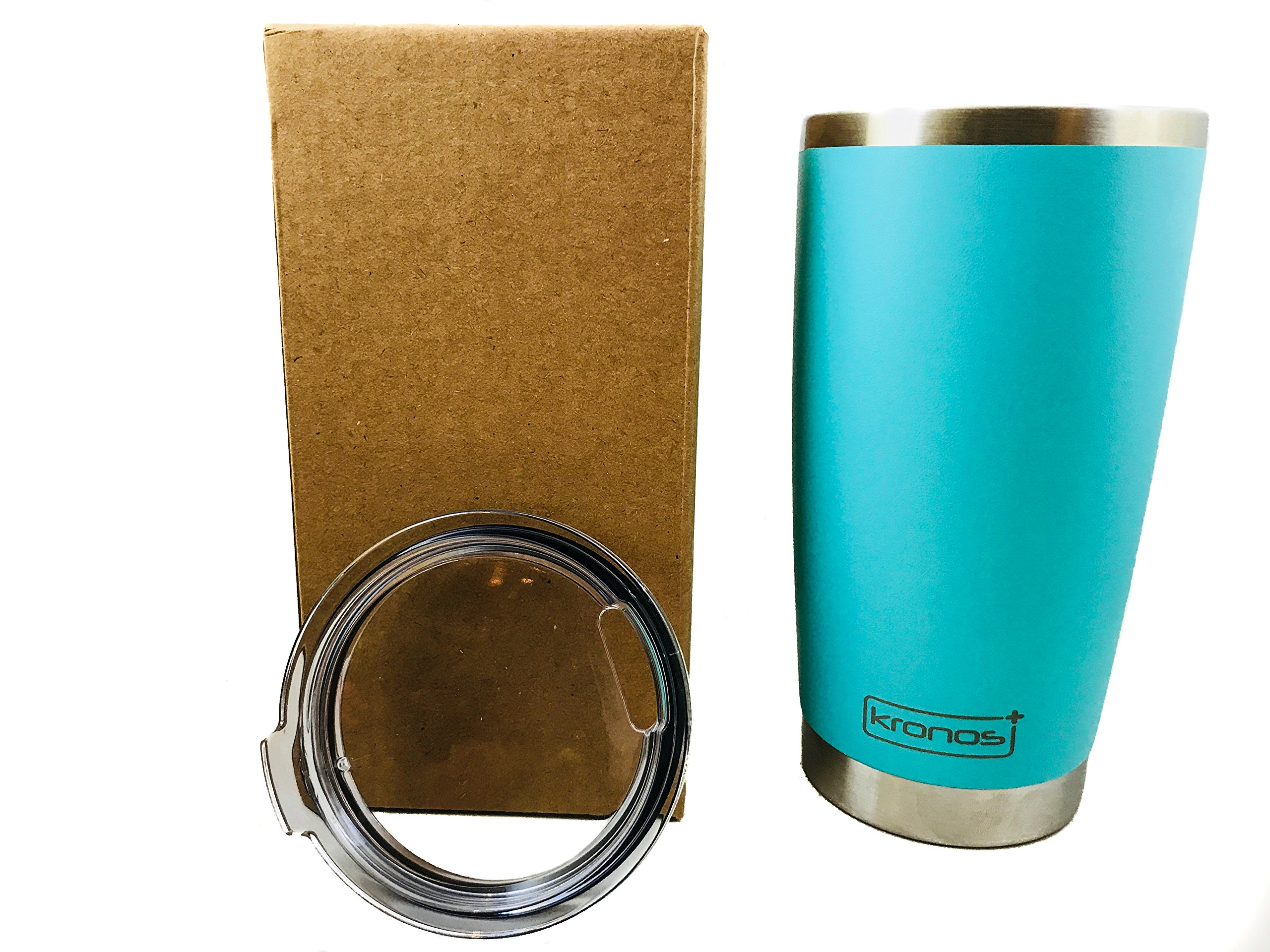 ( SEA FOAM ) Dishwasher Safe 20 oz Vacuum Insulated Thermos with High Quality Matte Finish - Coffee Mug Tumbler by Kronos + (Image #5)