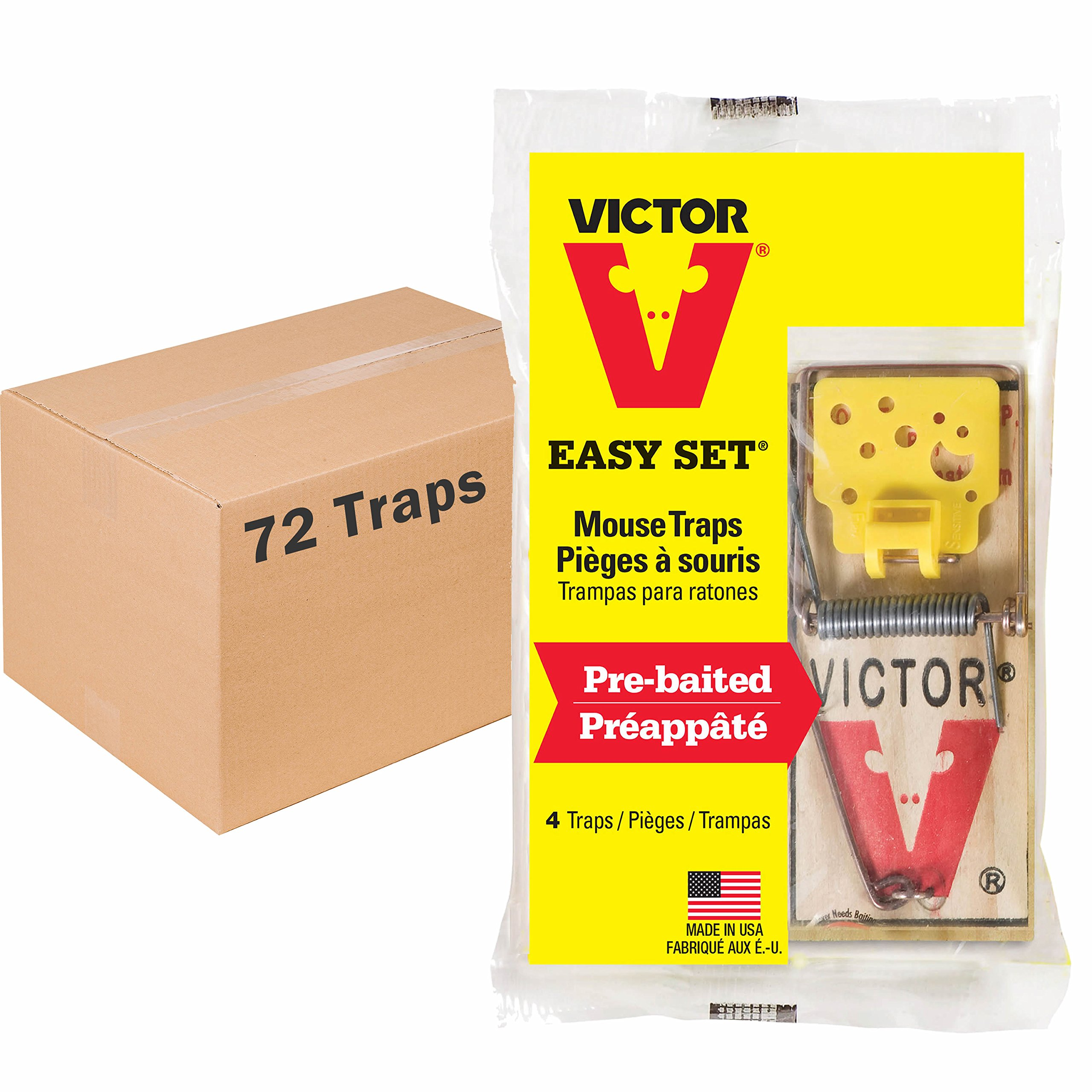 Victor Easy Set Mouse Trap - 18 Pack (72 Total Traps) by Victor