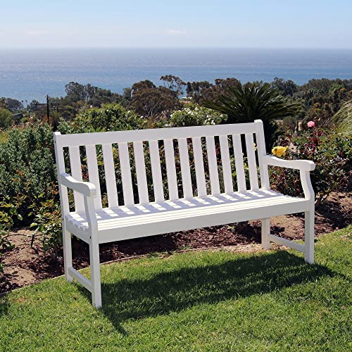 Vifah V1627 Atlantic 5-Foot Garden Bench, White
