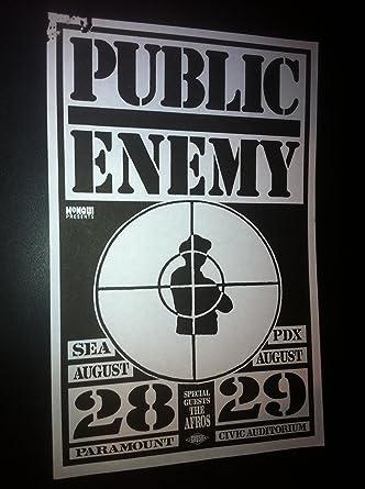 Public Enemy Flavor Fav Rare Original 1989 Rap Hip-Hop Concert Tour