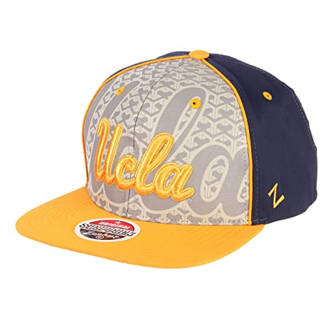 3c4c695b173 Image Unavailable. Image not available for. Color  ZHATS NCAA UCLA Bruins  Men s Reflector Snapback Hat ...