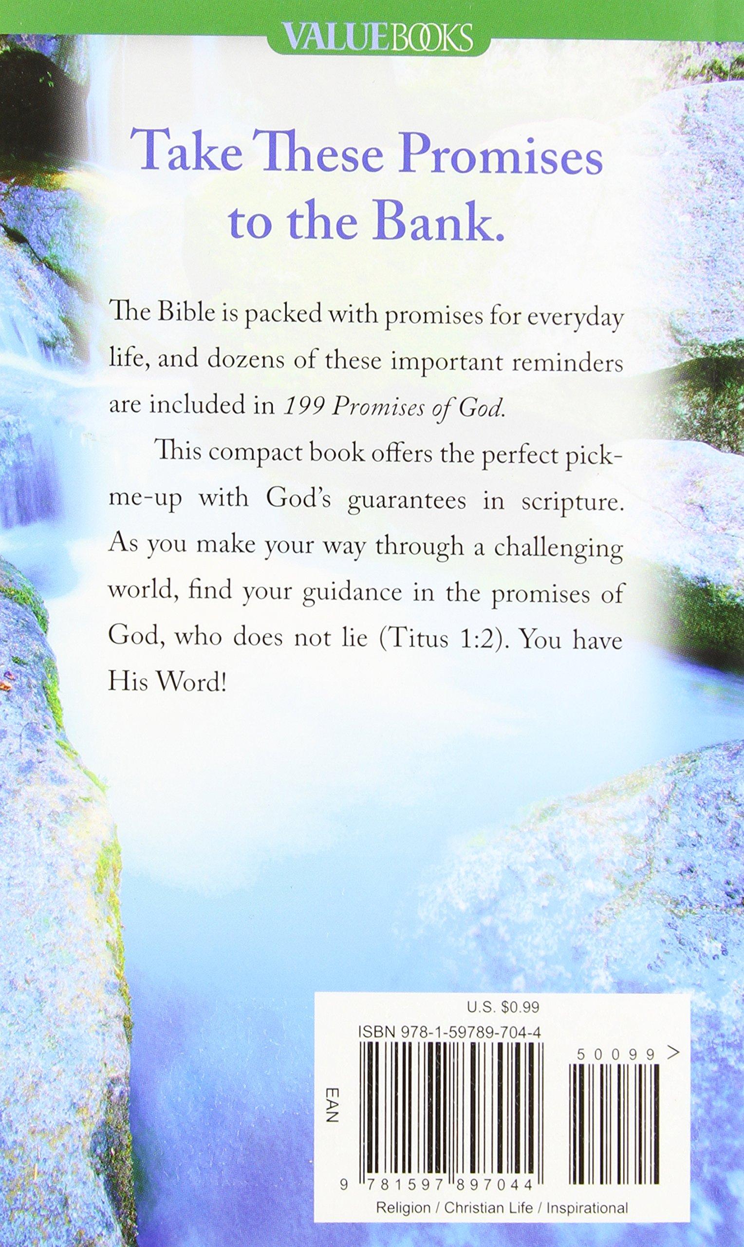 199 Promises of God (Value Books): Barbour Publishing: 9781597897044:  Amazon.com: Books