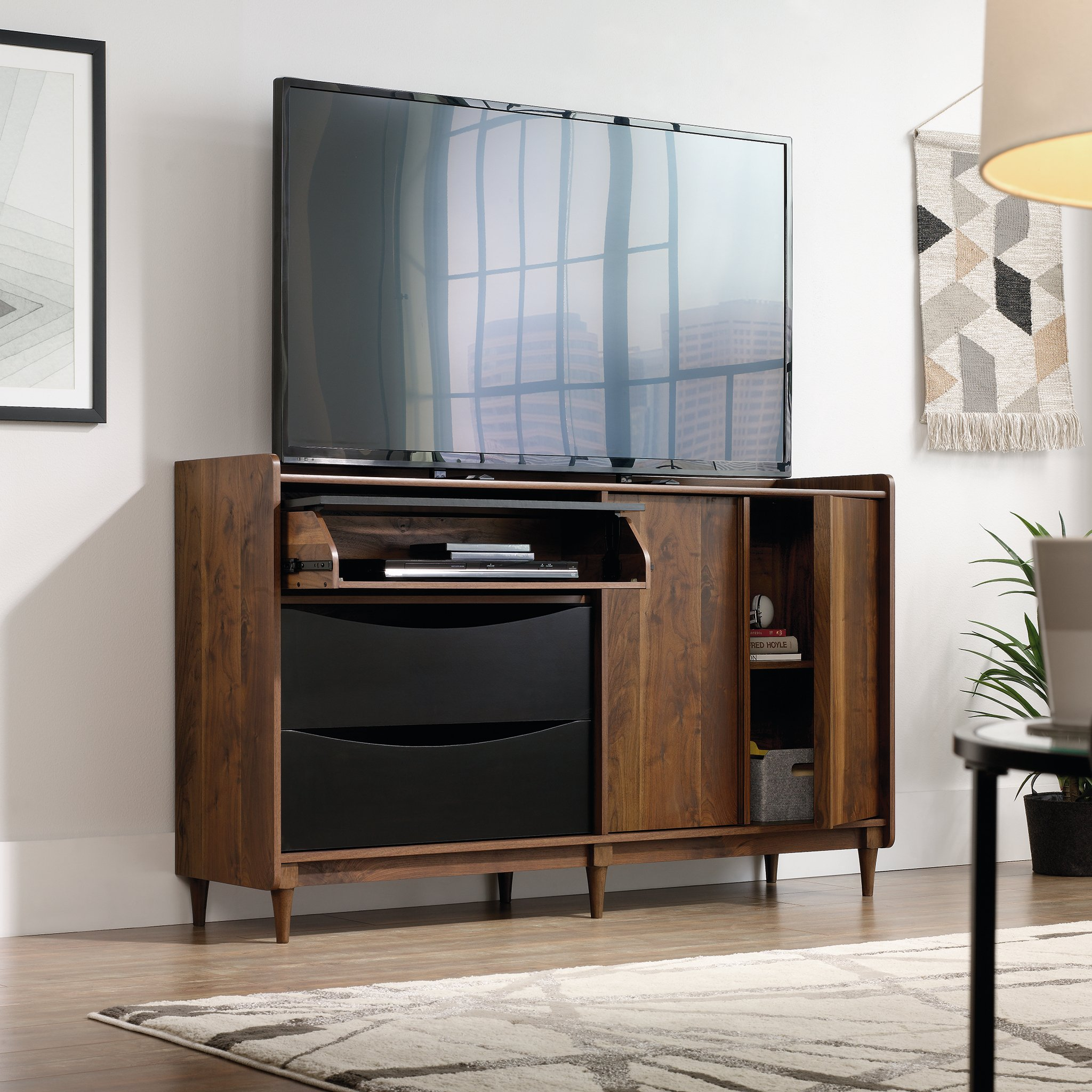 Sauder 420280 Harvey Park Entertainment Credenza, Grand Walnut Finish by Sauder (Image #3)