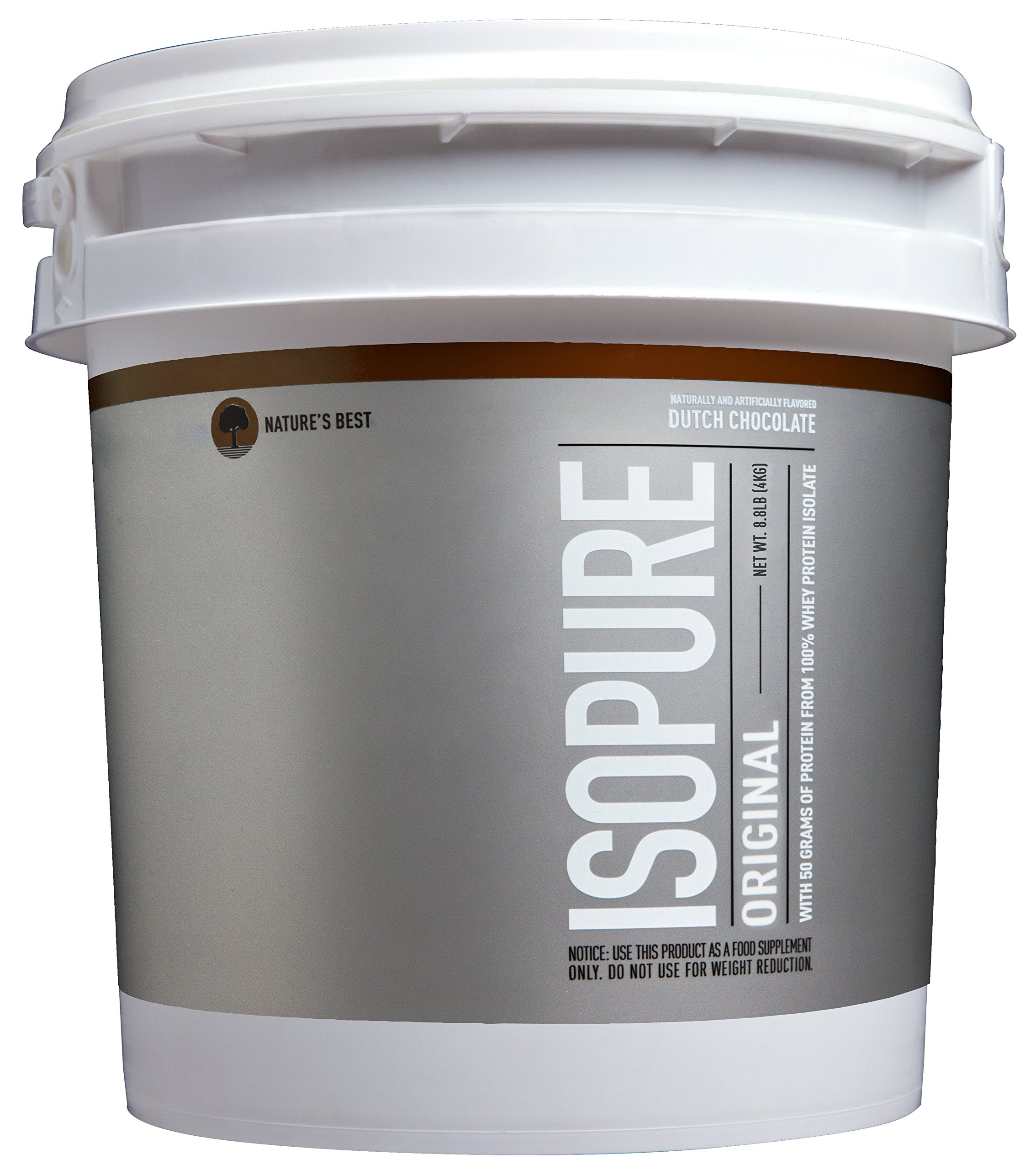 Isopure Original Protein Powder, 100% Whey Protein Isolate, Flavor: Dutch Chocolate, 8.8 Pounds (Packaging May Vary)