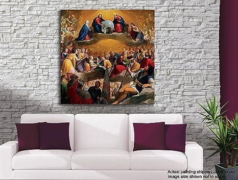 Pintura Para Salas De Estar : Tamatina jesús pintura en lienzo santo padre iglesia católica