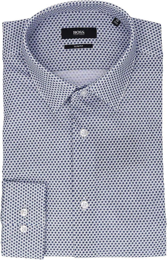BOSS Hugo by Hugo 50405173420 - Camisa de algodón para Hombre, Color Azul Azul Talla de Fabricante 38 cm: Amazon.es: Ropa y accesorios