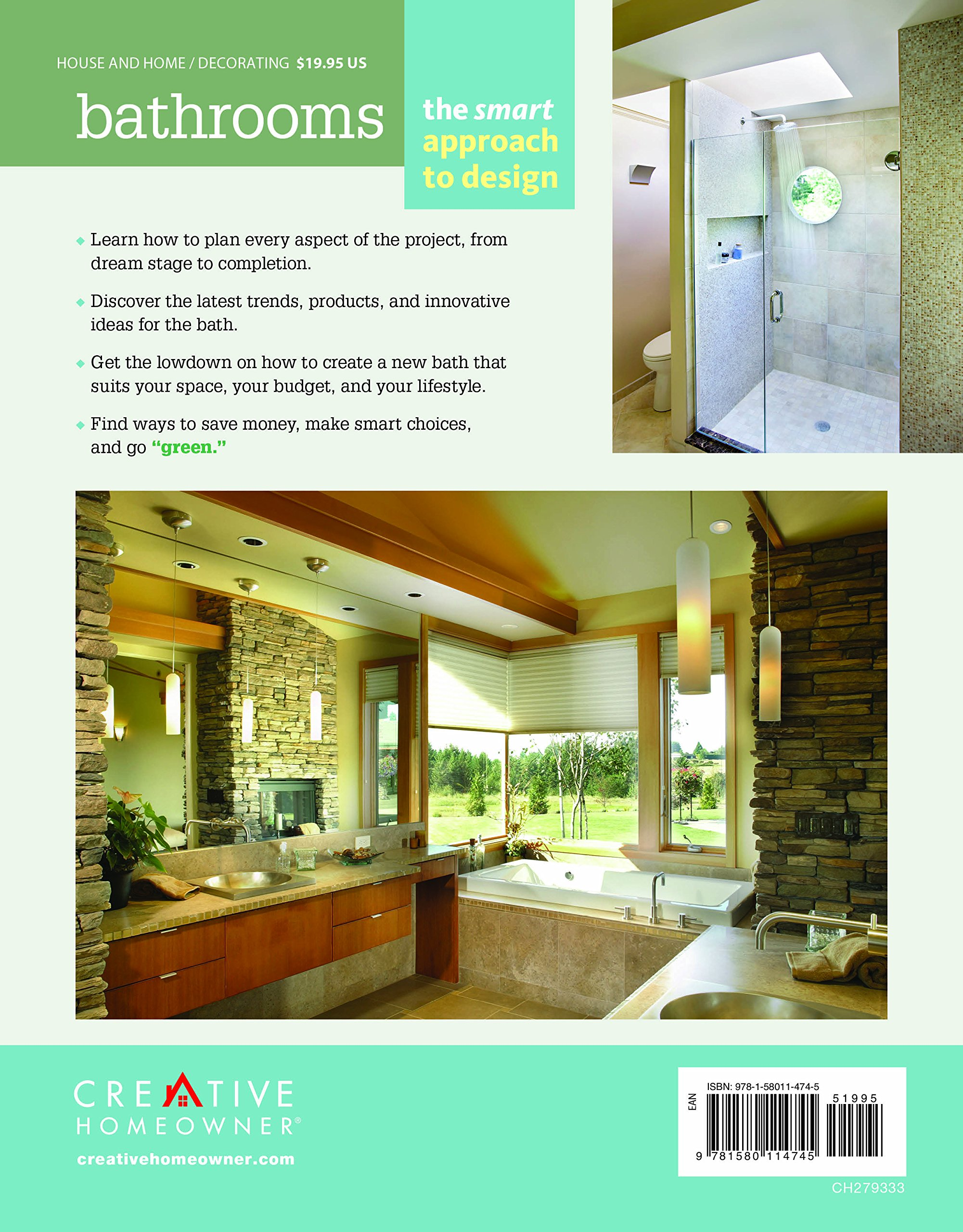 Bathrooms The Smart Approach To Design Home Decorating Editors Of Creative Homeowner Bathroom How 9781580114745 Amazon