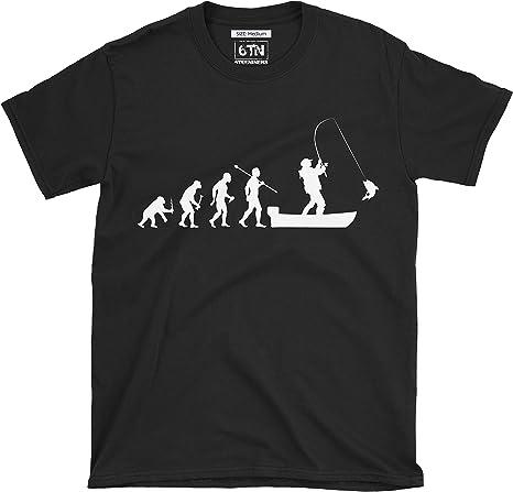 TALLA XL. 6TN evolución del Hombre a Barco Pesca Camiseta de Manga Corta
