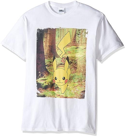 1cbecebd Pokemon Tall Men's Pikachu in Real Life T-Shirt, White 5XL | Amazon.com