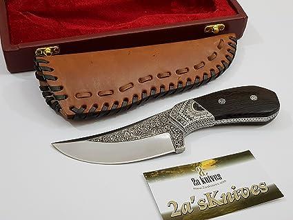 Amazon.com: Cuchillos de 2 a con mango grabado D2, de acero ...