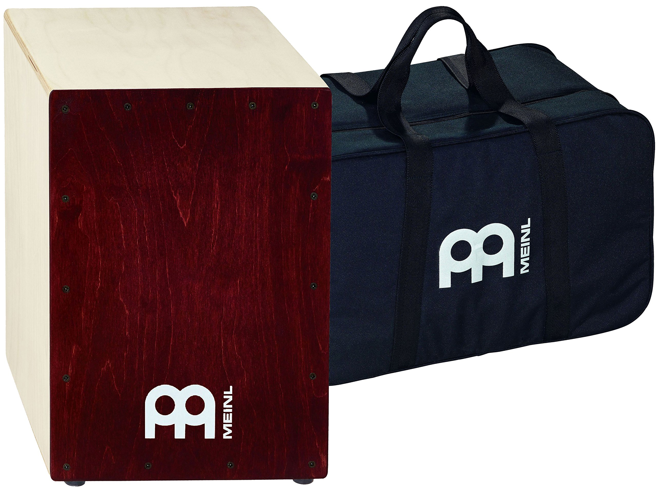 Meinl Cajon Box Drum with Internal Snares and FREE Bag - MADE IN EUROPE - Baltic Birch Wood Full Size, 2-YEAR WARRANTY (BC1NTWR) by Meinl Percussion