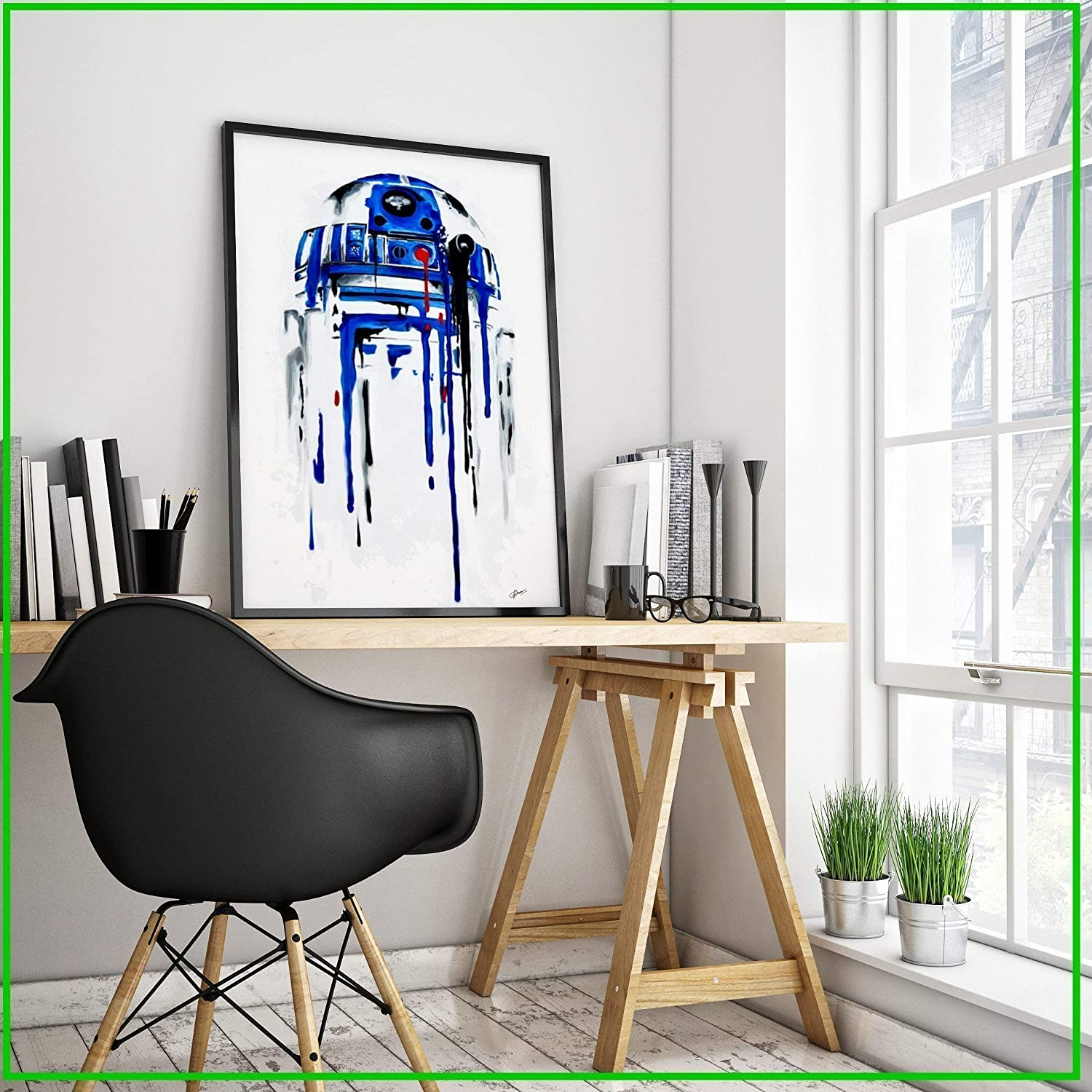 Star Wars R2D2 original painting or art print