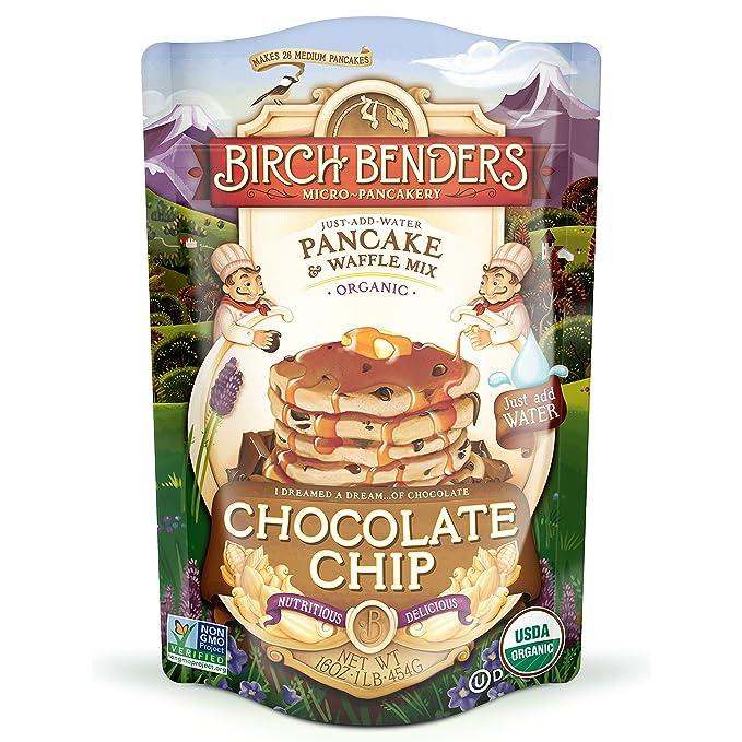 Birch Benders - Panqueques y wafles mezclan chispas de Chocolate - 16 oz.