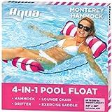 Aqua Leisure 4-in-1 Multi-Purpose Monterey Hammock (Saddle, Lounge Chair, Hammock, and Drifter), Supportive Mesh Lining…