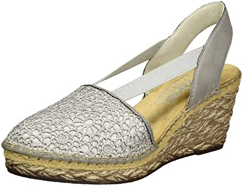 Rieker Damen 69950 Geschlossene Sandalen mit Keilabsatz