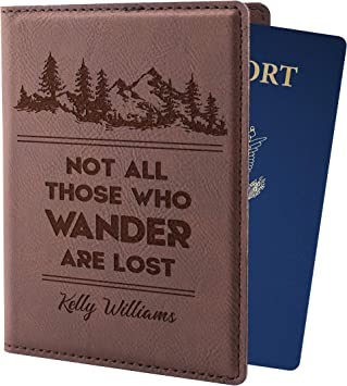 Fantastic Quote Leatherette Passport Wallet Style Case Cover For Travel