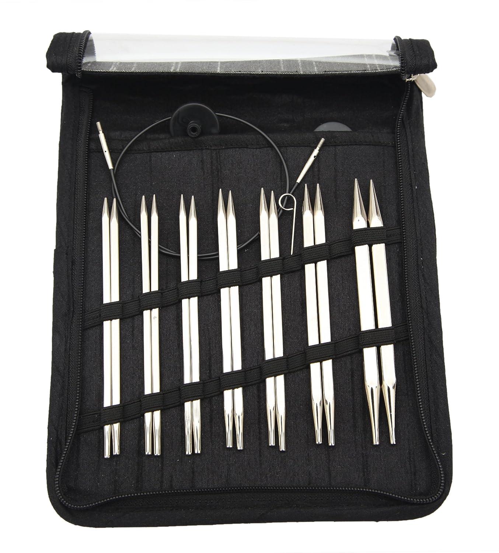 KnitPro KP12361 Nova Cubics Deluxe Interchangeable Circular Knitting Needle Set