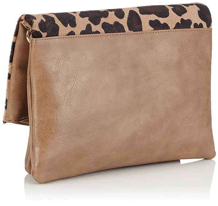 Cortefiel Classic Print Cartera - Bolso para mujer, color beige/roasted, talla U: Amazon.es: Zapatos y complementos