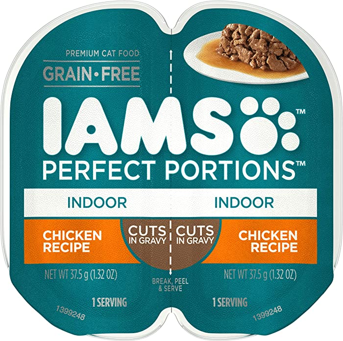 IAMS Perfect Portions Healthy Grain Free Wet Cat Food, (24 Twin Packs)