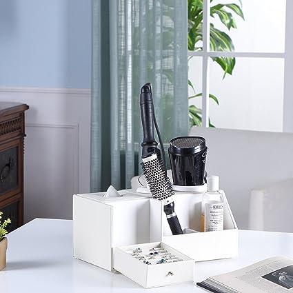 Hair Dryer Holder, Love Nest Multi Functional Blow Dryer Holder PU White  Snake Leather