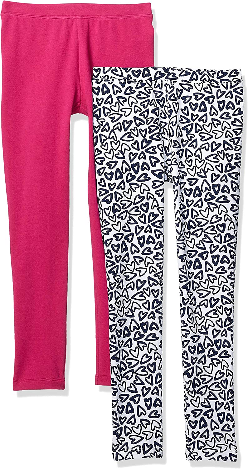 Marke Spotted Zebra M/ädchen 2-Pack Cozy Leggings