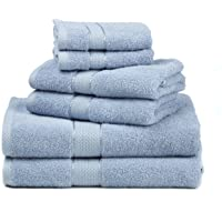 Ariv Collection Premium Bamboo Cotton 6 Piece Towel Set 2 Bath Towels