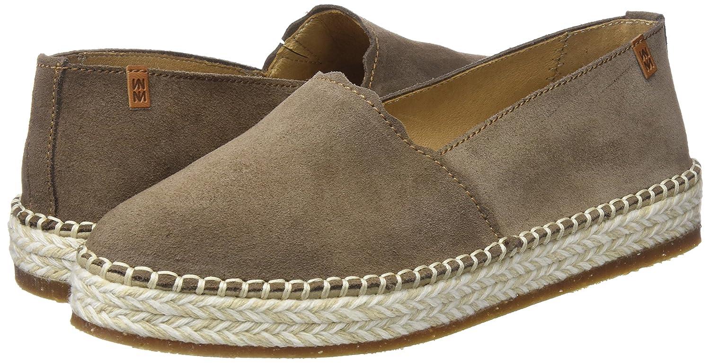 El Naturalista Womens N5340 Lux Suede Land//Marine Loafer Flat