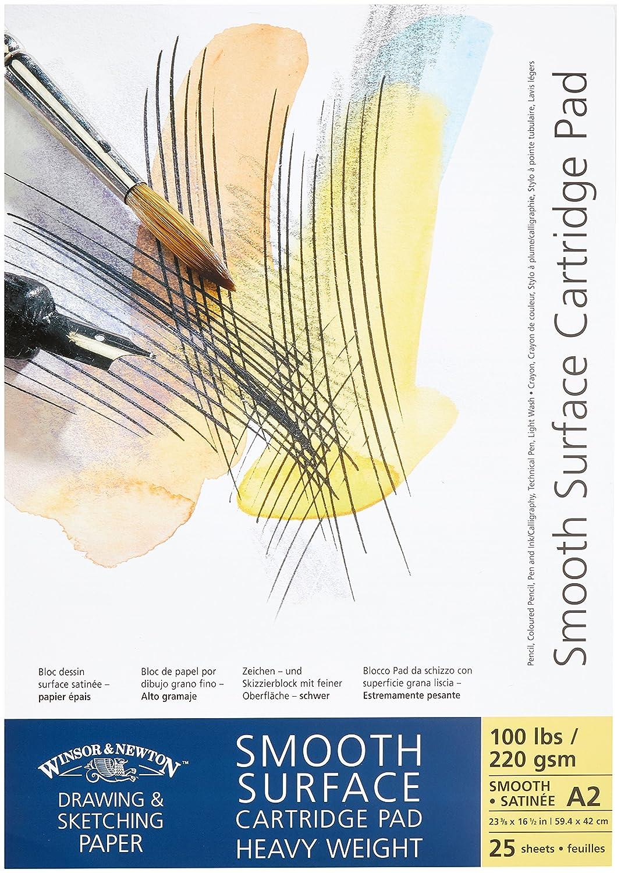Winsor&Newton - Blocco Carta Satinata, Grana Liscia Incollato - 220 Gr - A2-25 Fogli Colart WN6689632