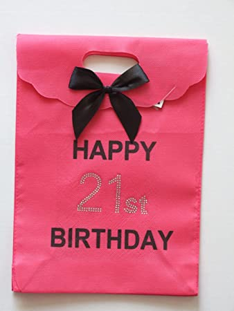 HAPPY 21ST PINK BIRTHDAY GIFT BAG Amazoncouk Toys Games
